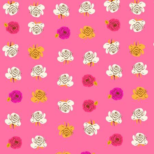 Windham Fabrics - Roses Hot Pink - Far Far Away 2 - By Heather Ross