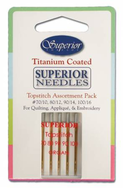 Superior - Topstitch Machine Needle Assortment Pack -  5ct