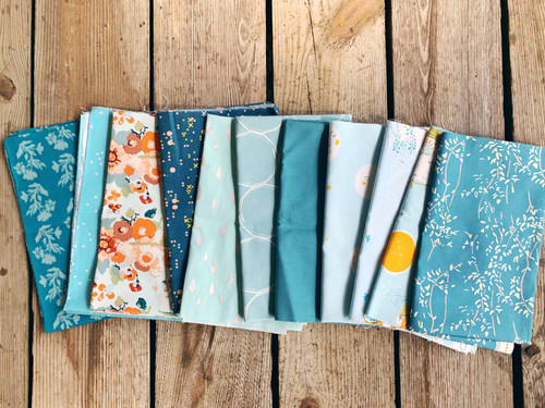 Mixed Mystery Teals and Aquas Bundle - 10 Pieces