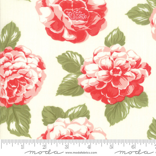 Moda Fabrics - Blooms Cream - Early Bird - Bonnie & Camille - WIDE BACK