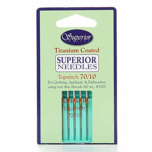 Superior - Topstitch Machine Needle Size 70/10 -  5ct
