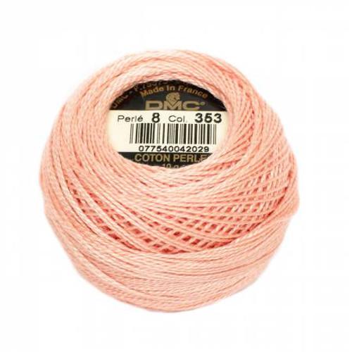 DMC - Pearl Cotton Balls - Size 8 - Peach - Color 353