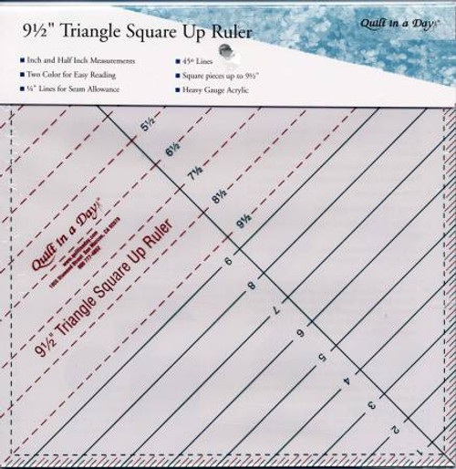 """Quilt in a Day 9.5"""" Triangle Square Up Ruler"""