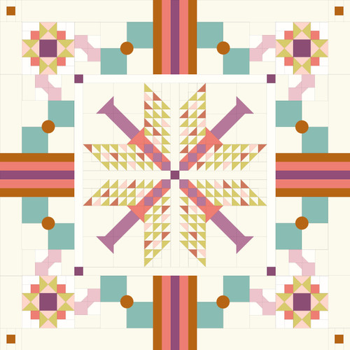 Foreground Kit - Violet Sky Bundle - 9 Pieces - Curated Especially for the Para Para Quilt -