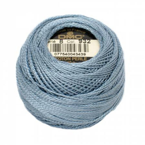 DMC - Pearl Cotton Balls - Size 8 - Light Antique Blue - Color 932