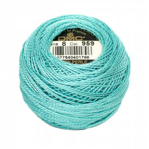 DMC - Pearl Cotton Balls - Size 8 - Medium Sea Green - Color 959