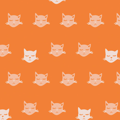 Art Gallery Fabrics - Cat Nap - Oh, Meow - By Jessica Swift