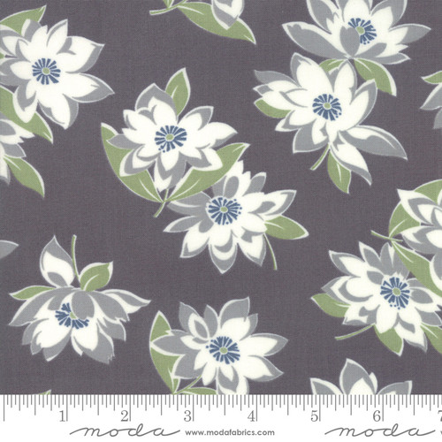 Moda Fabrics - Large Floral in Graphite - At Home - Bonnie & Camille