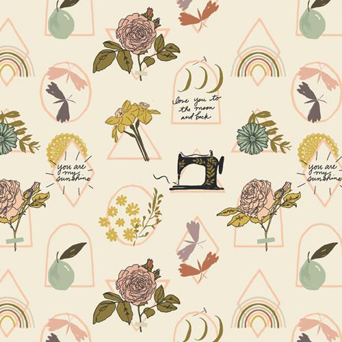 Art Gallery Fabrics - Elsie's Sunshine - Her & History - By Bonnie Christine