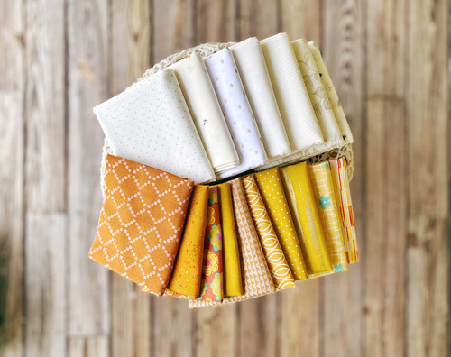 Shades of Yellow/Gold Quilt Kit - Cut especially for the Good Girl Quilt - Large Throw Size