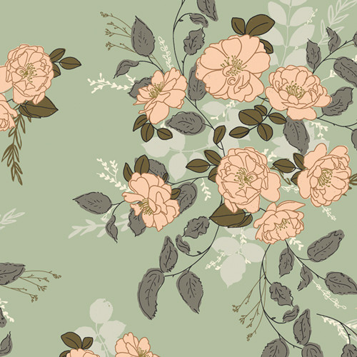 Art Gallery Fabrics - Marrell's Secret Garden - Her & History - By Bonnie Christine