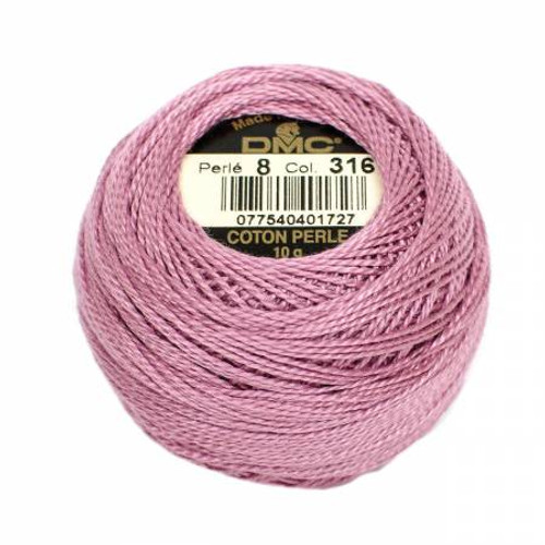 DMC - Pearl Cotton Balls - Size 8 - Antique Mauve - Color 316