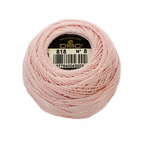 DMC - Pearl Cotton Balls - Size 8 - Baby Pink - Color 818