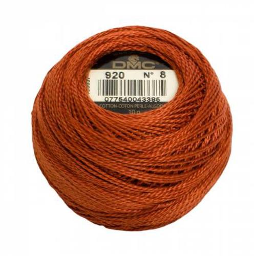 DMC - Pearl Cotton Balls - Size 8 - Medium Copper - Color 920