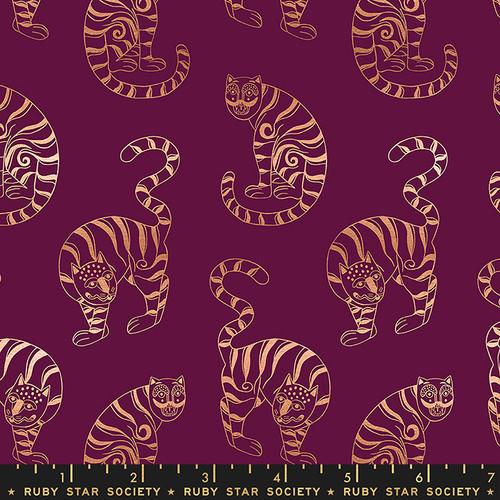Ruby Star Society - Tigers Purple Velvet - Airflow Metallic - By Sasha Ignatiadou