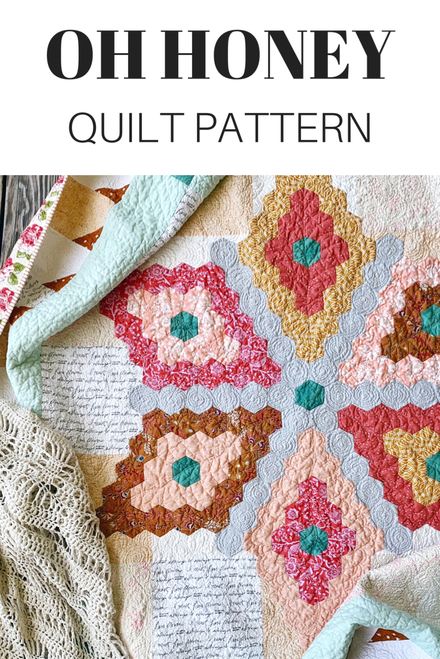 Oh Honey Quilt Pattern - Paper Pattern