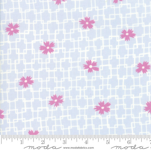 Moda Fabrics - Floral in Blue Heaven - Fine and Sunny - By Jen Kingwell