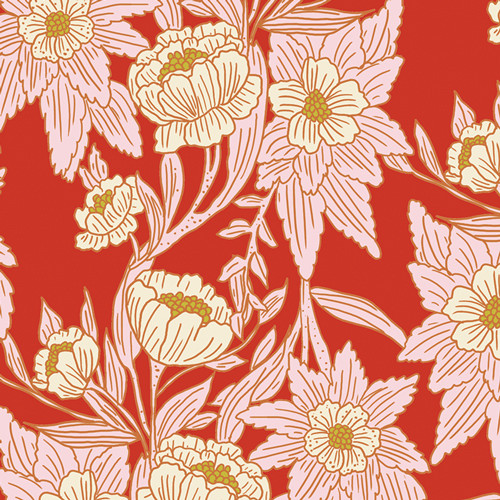 Art Gallery Fabrics - Madison Avenue Blaze - 365 Fifth Avenue - By Bari J