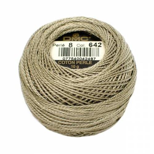 DMC - Pearl Cotton Balls - Size 8 - Dark Beige Gray - Color 642