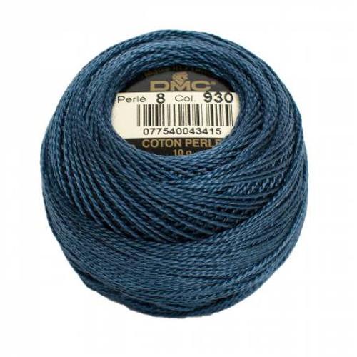 DMC - Pearl Cotton Balls - Size 8 - Dark Antique Blue - Color 930