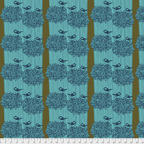 Free Spirit Fabrics - Birdseed Royal - After the Rain - By Bookhou