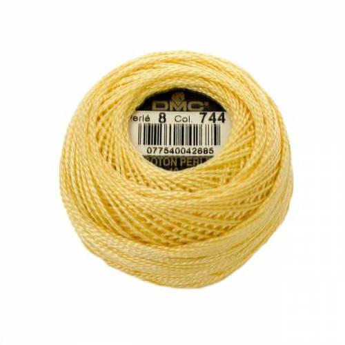 DMC - Pearl Cotton Balls - Size 8 - Pale Yellow - Color 744