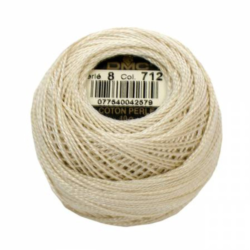 DMC - Pearl Cotton Balls - Size 8 - Cream - Color 712