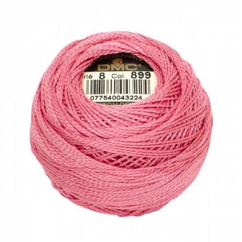 DMC - Pearl Cotton Balls - Size 8 - Medium Rose - Color 899