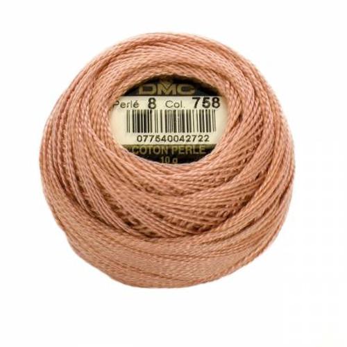 DMC - Pearl Cotton Balls - Size 8 - Very Light Terra Cotta - Color 758