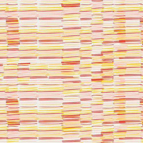 Art Gallery Fabrics - Plentiful Earth Saffron - Meadow - By Leah Duncan
