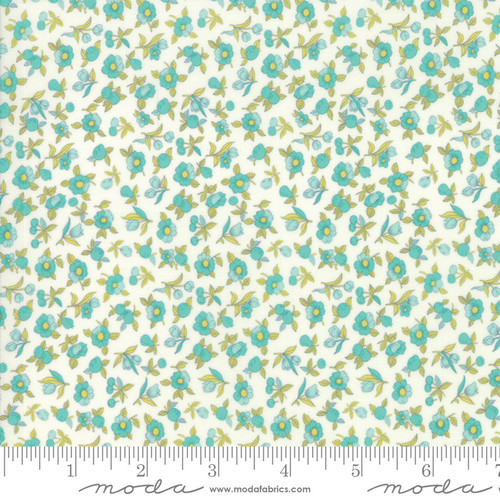Moda Fabrics - Tiny floral in feather - Flour Garden - By Linzee Kull McCray