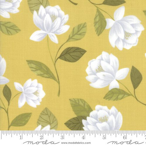 Moda Fabrics - Raleigh Floral Gold - Goldenrod - By One Canoe Two