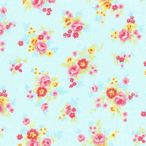 Lecien Japan Inc - Aqua - Antique Flower Pastel 2019