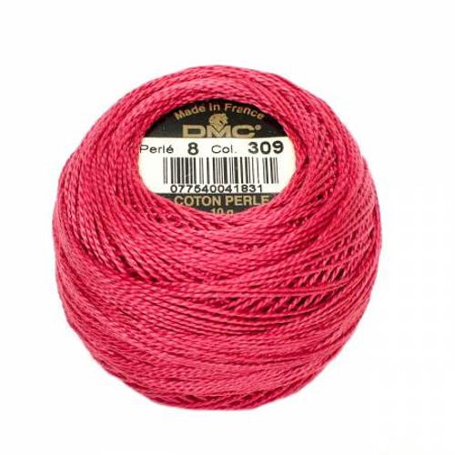 Pearl Cotton Balls - Size 8 - Dark Rose - Color 309