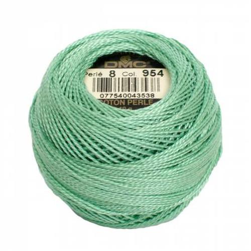 DMC - Pearl Cotton Balls - Size 8 - Nile Green - Color 954