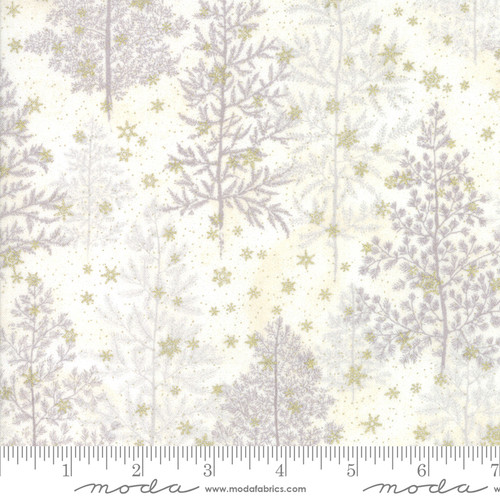 Moda Fabrics - Snow in Natural - Forest Frost Glitter