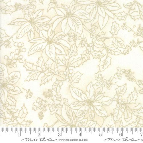 Moda Fabrics - Poinsettias Snow - Forest Frost Glitter