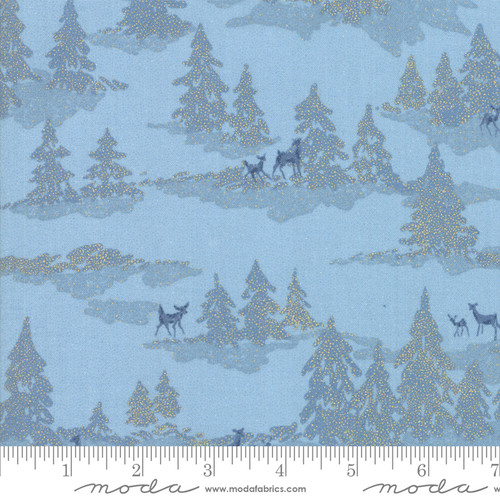Moda Fabrics - Icicle Light Blue - Forest Frost Glitter