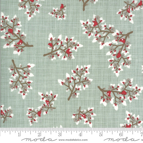 Moda Fabrics - Mistletoe Frost - Juniper - Kate & Birdie Paper Co.