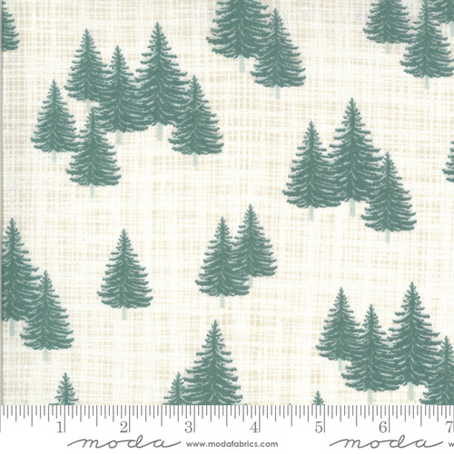 Moda Fabrics - Trees Snow - Juniper - Kate & Birdie Paper Co.