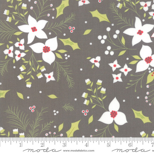 Moda Fabrics - Floral in Coal - Holliberry - Corey Yoder