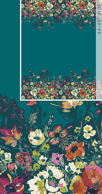 Art Gallery Fabrics - Roads to Flowerhouse PANEL - Bloomsbury - By Bari J