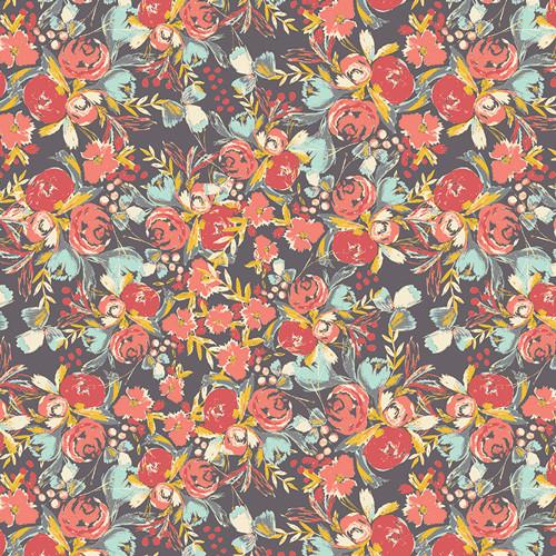 Art Gallery Fabrics - Flowerfield Sunset - Wild Bloom - By Bari J