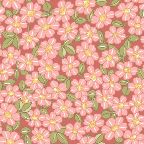 Maywood Studio Fabrics - Pink Packed Daisy - Sunlit Blooms - Maywood Studio Collections