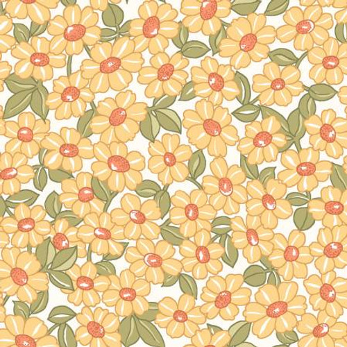 Maywood Studio Fabrics - Yellow Packed Daisy - Sunlit Blooms - Maywood Studio Collections