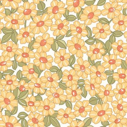 Maywood Studio Fabrics - Yellow Packed Daisy - Sunlit Blooms - Maywood Studio Collections