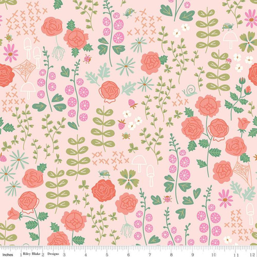 Riley Blake Fabrics - Rose Garden Blush - New Dawn - Citrus & Mint Designs