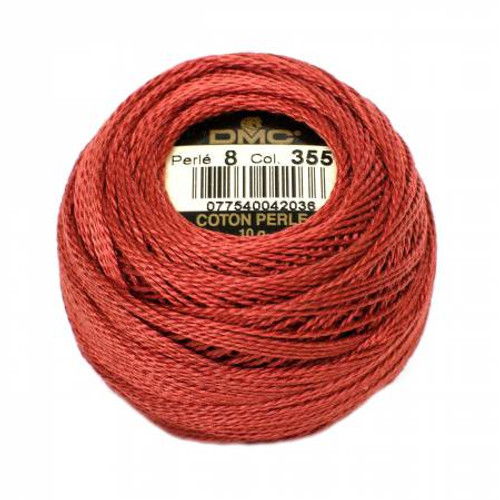 DMC - Pearl Cotton Balls - Size 8 - Dark Terra Cotta - Color 355