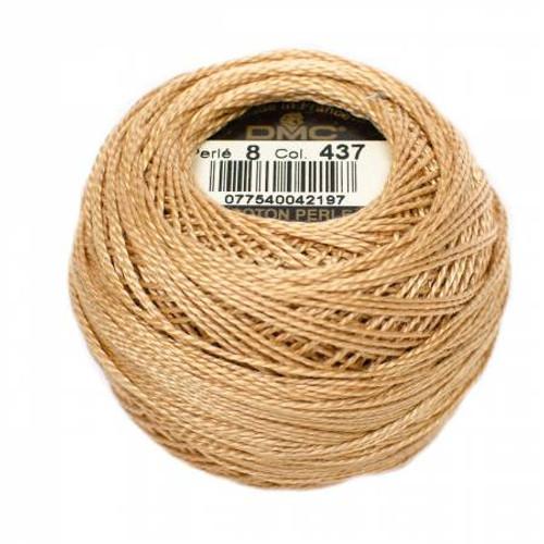 DMC - Pearl Cotton Balls - Size 8 - Dark Light Tan - Color 437