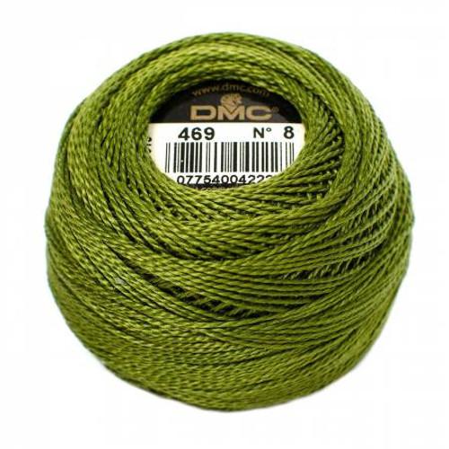 DMC - Pearl Cotton Balls - Size 8 - Avocado Green - Color 469